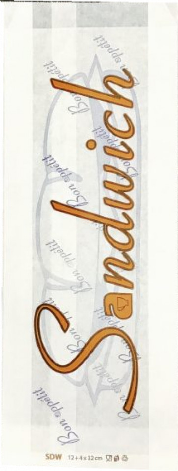 Punga alba, rezistenta la grasime, design SANDWICH